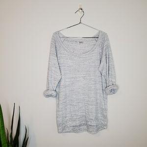 Aritzia TNA Basic 3/4 Rolled Sleeve Shirt